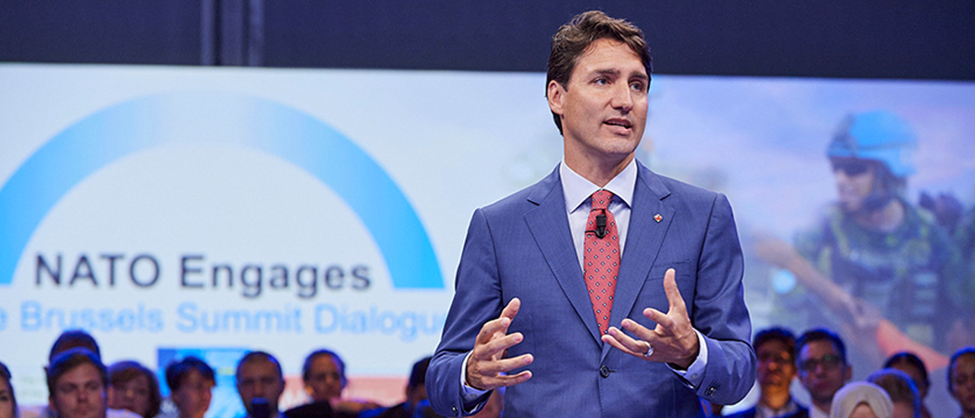 Canadian Prime Minister Justin Trudeau Stands Up for NATO