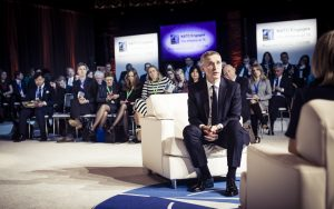 Jens Stoltenberg, Secretary General, NATO with Andrea Mitchell, Chief Foreign Affairs Correspondent, NBC News